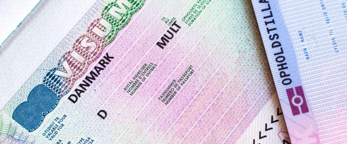 fragment of schengen multi entrance denmark visa