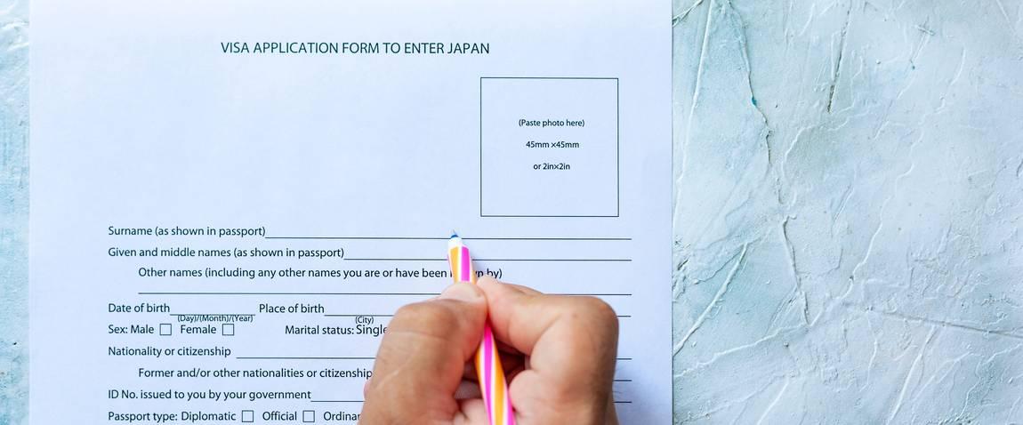 filling visa application form