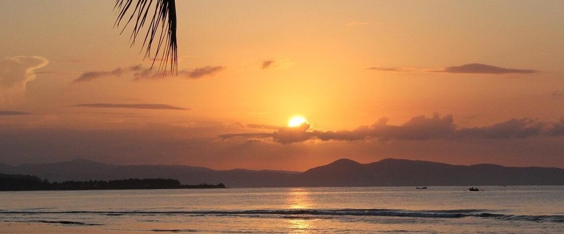 haiti sunset