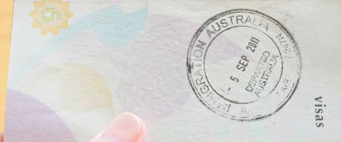 australian immigration stamp