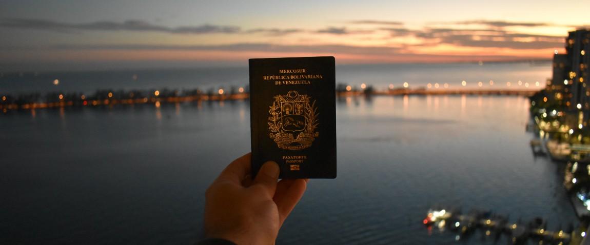 holding venezuelan passport
