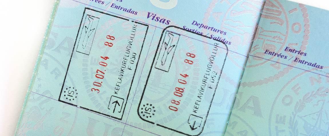 iceland visa stamp