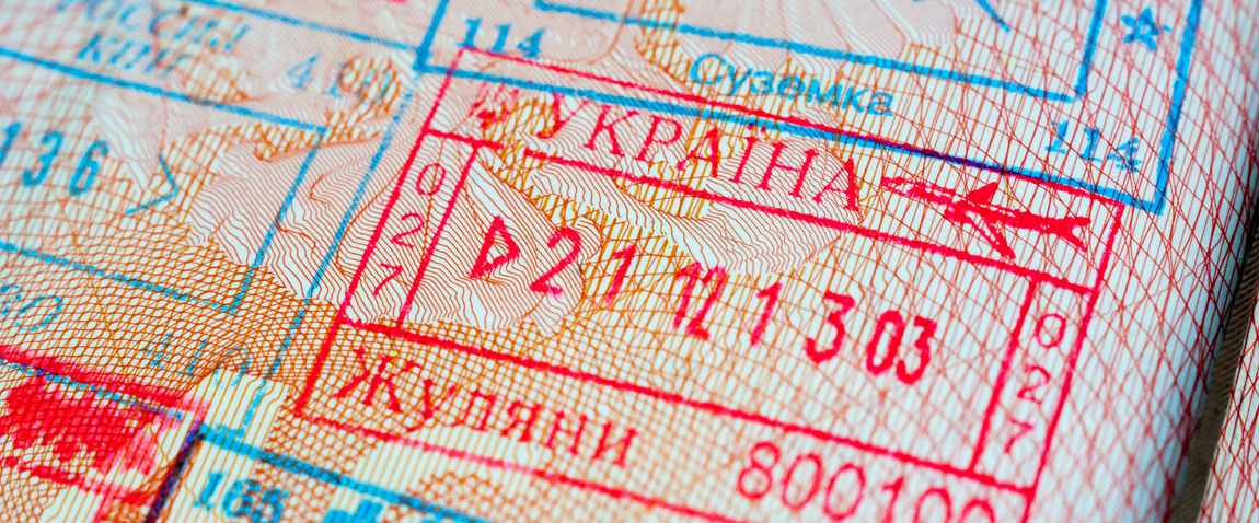 ukraine visa stamp