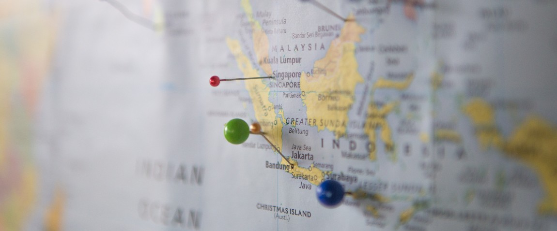 indonesia on the map