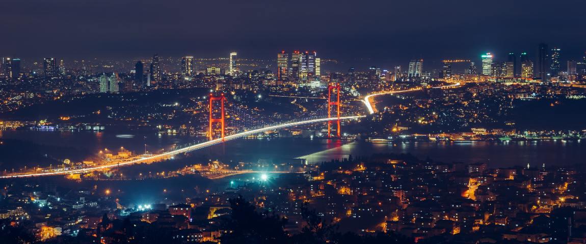 istanbul city night view