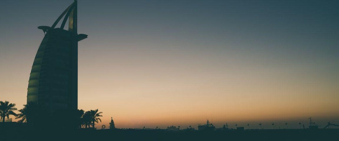 jumeirah at sunset