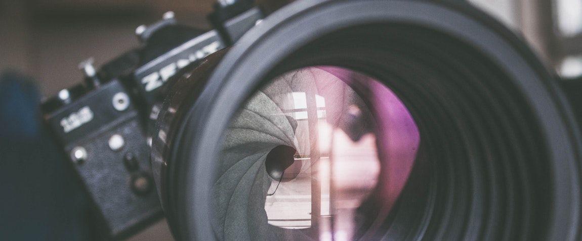 lens of the camera