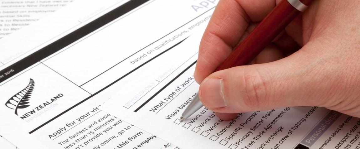 fill a work visa