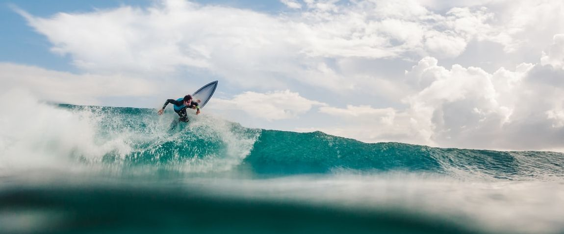 man doing surfing