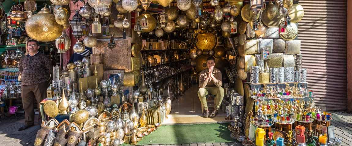 moroccan metal lamps