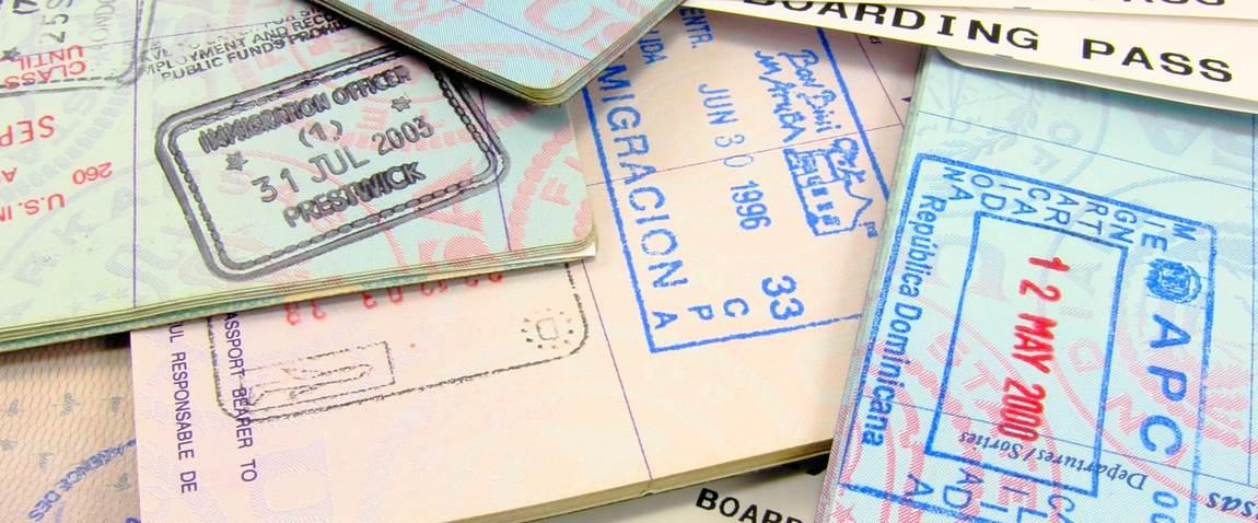 multiple visa stamps