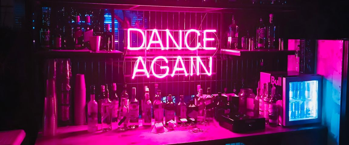 neon light at club