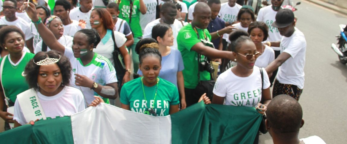 nigeria green walk independence