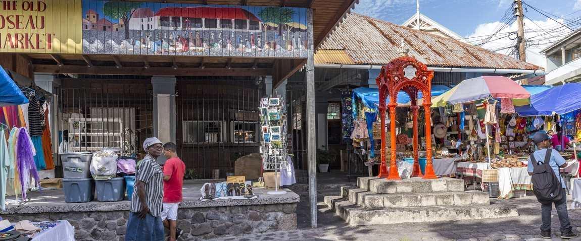 old market of roseau