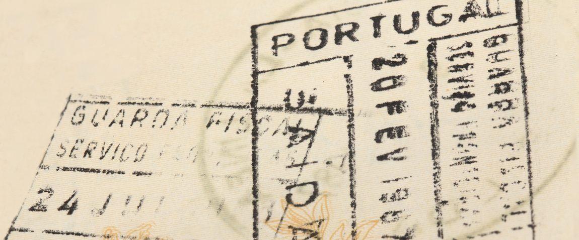 old visa stamp