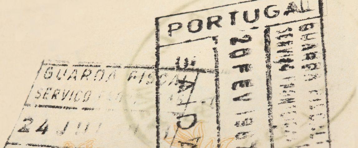 old portugal visa stamp