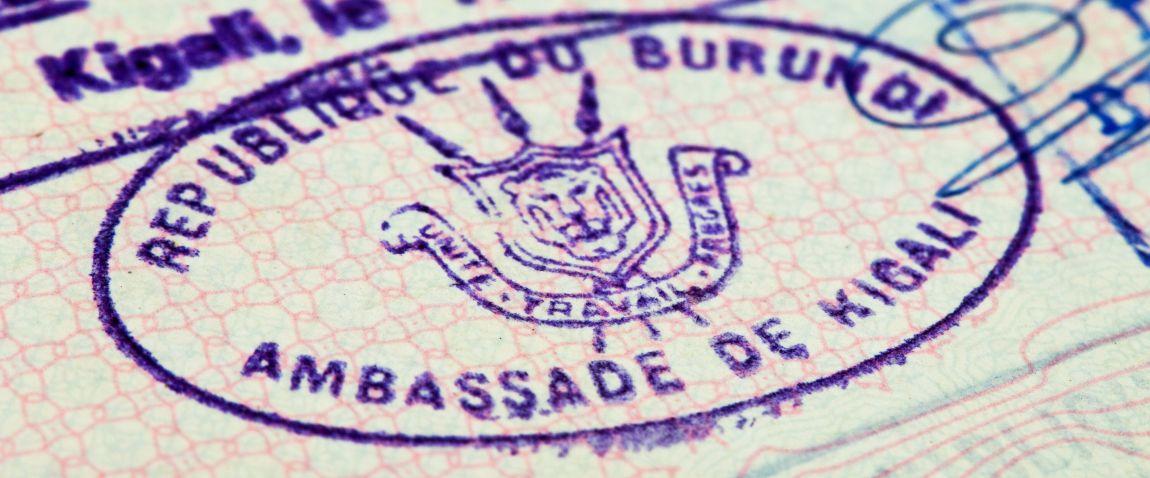 purple visa stamp