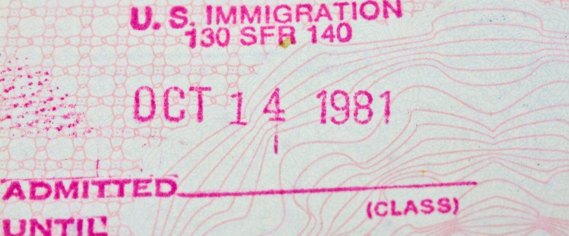 old passport stamp