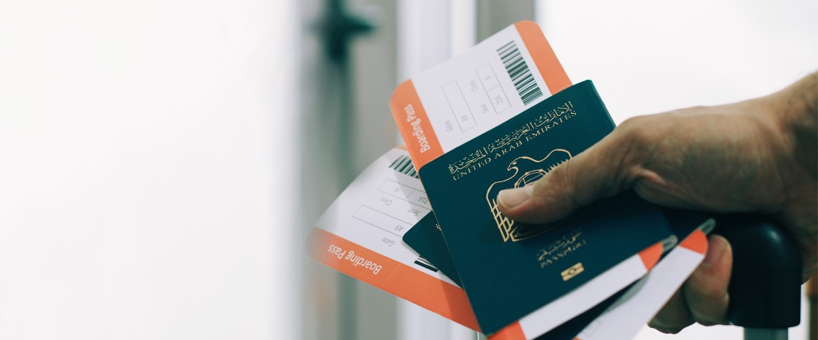 passenger holding uae passports