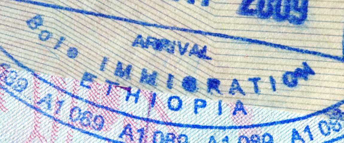 passport page with entry stamp