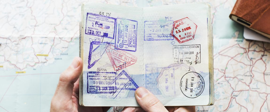 passport with lots of stamps