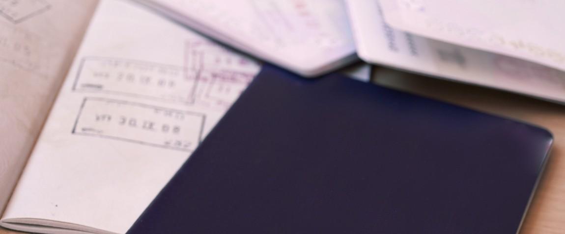 passports and visa stamps