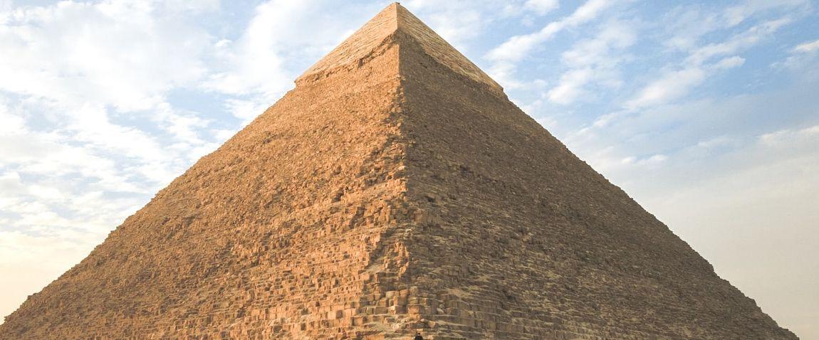 pyramid and blue sky