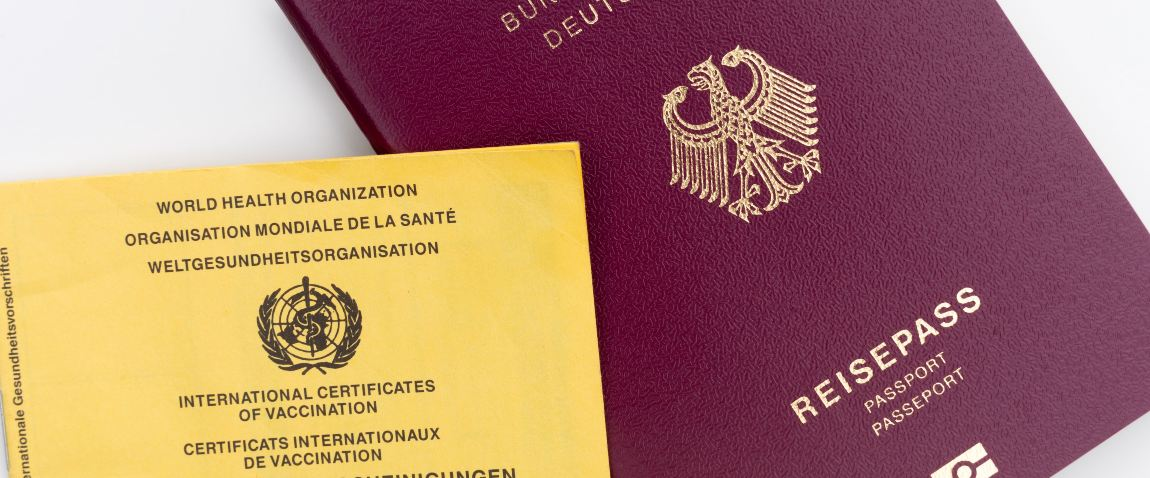 red and covid passports