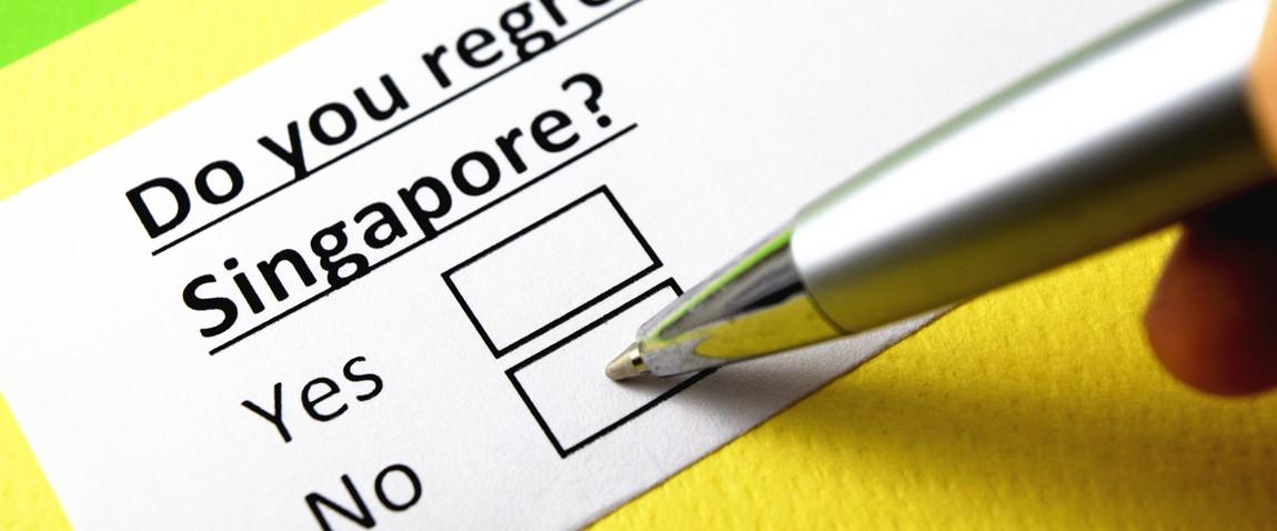 regret moving to singapore