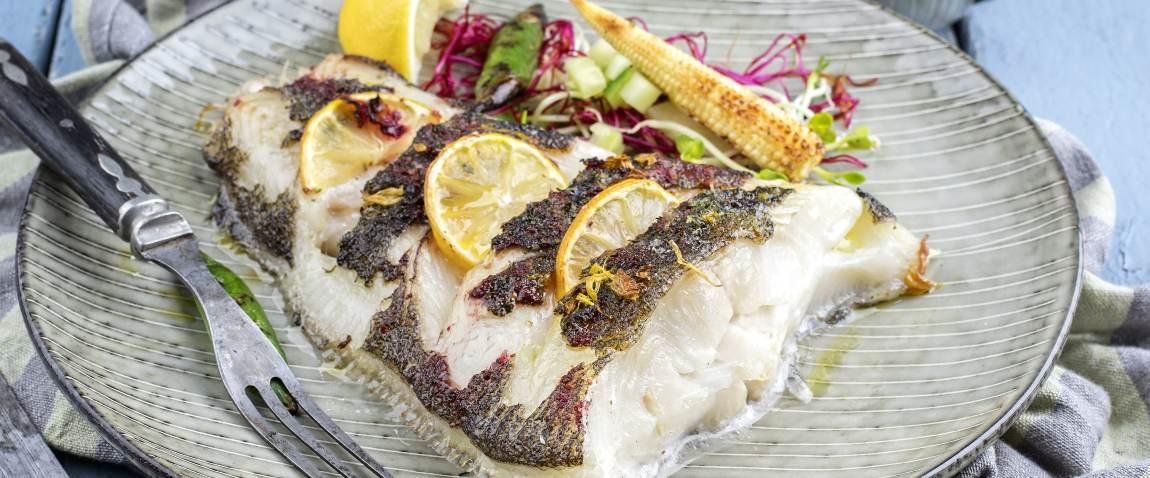 roasted halibut