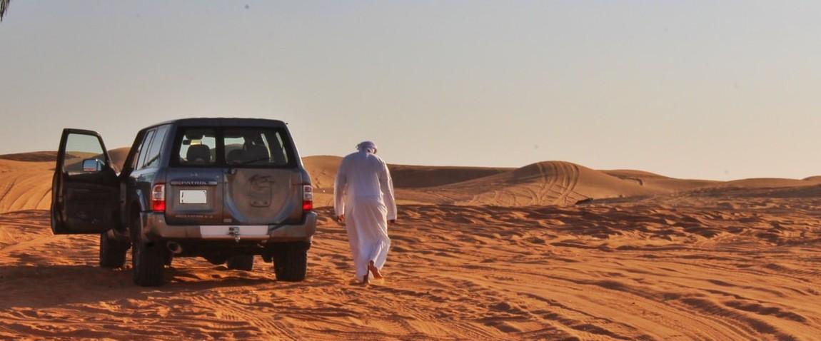 safari in the desert near al ain