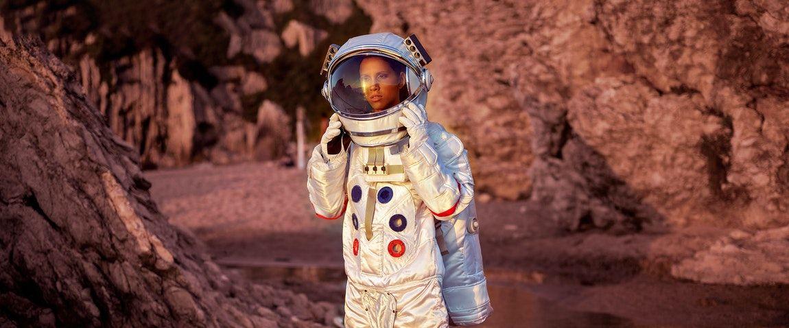 smiling cosmonaut