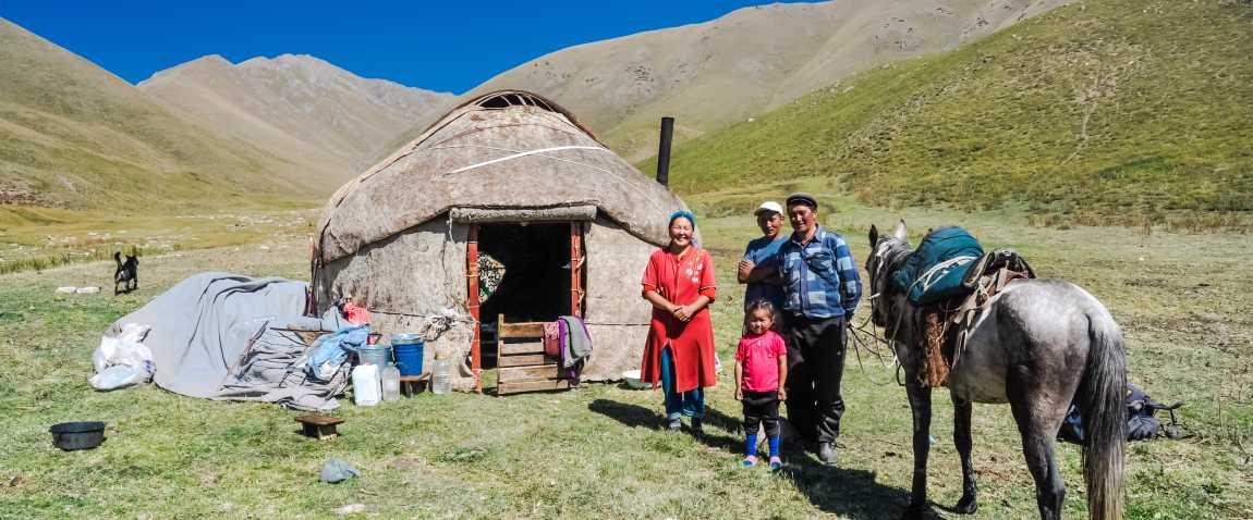 smiling native family