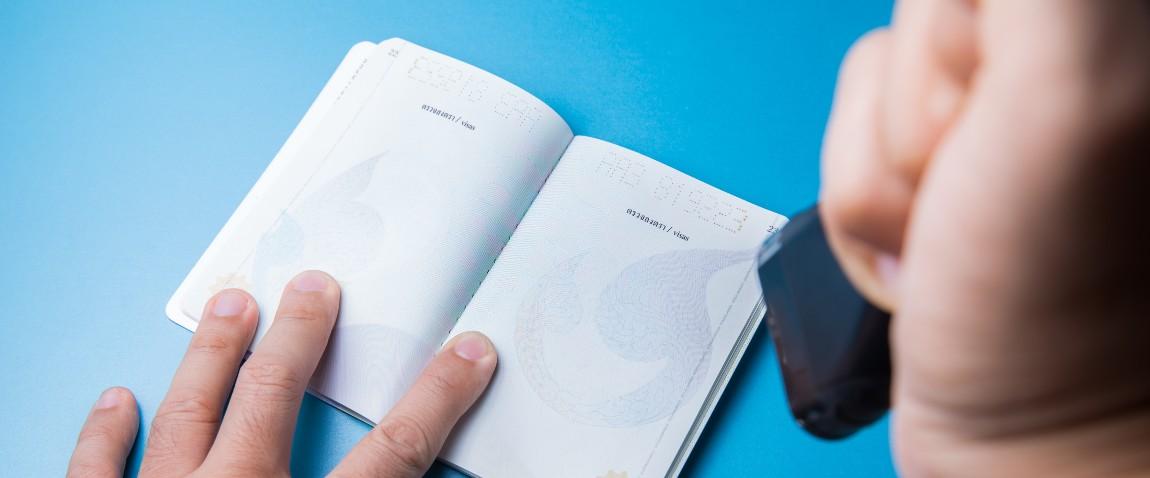 stamping empty passport