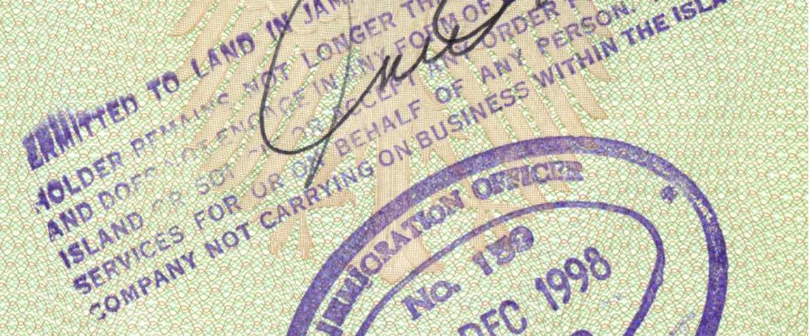jamaica visa stamp