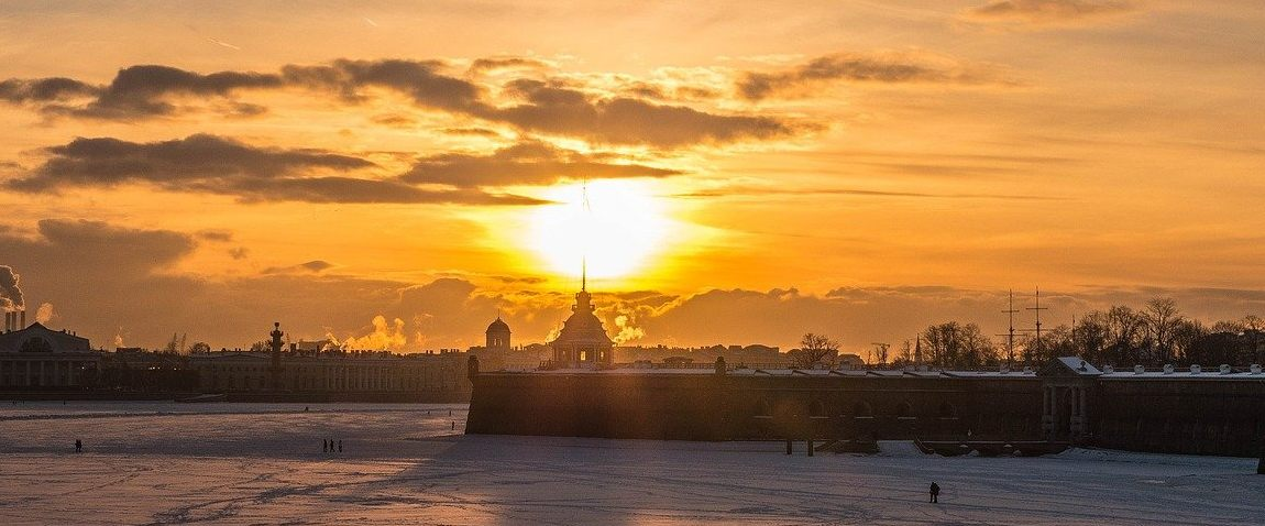 sunny day in st petersburg