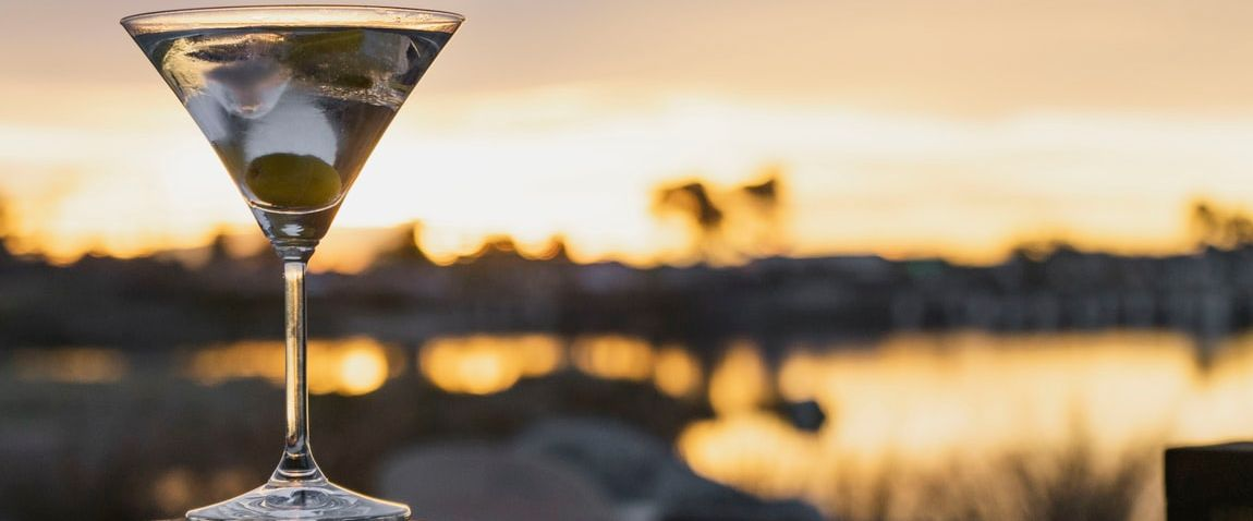 sunset and drink