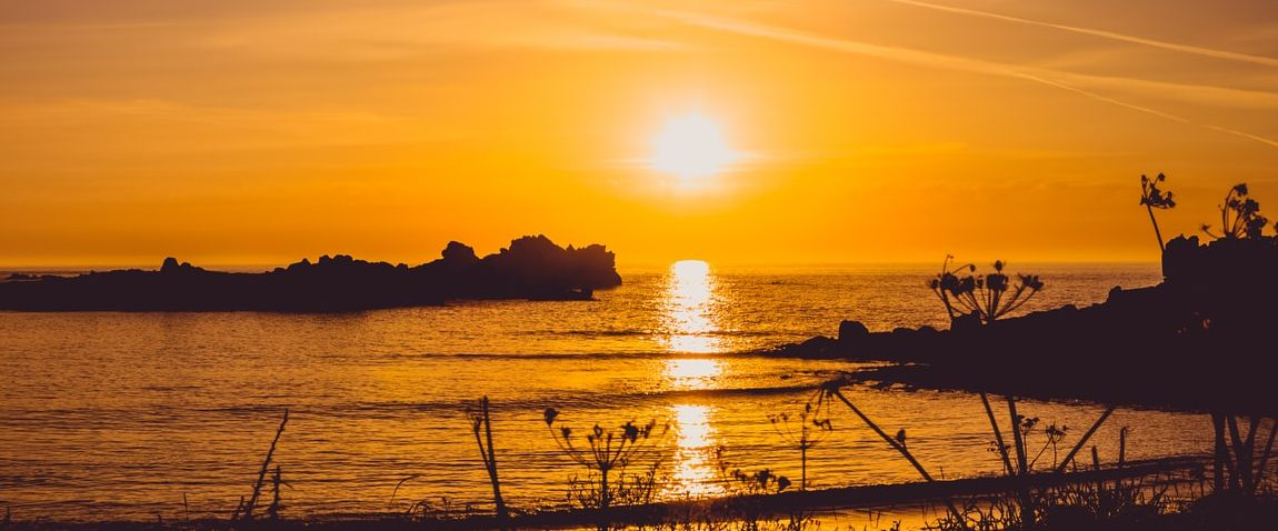 sunset in guernsey
