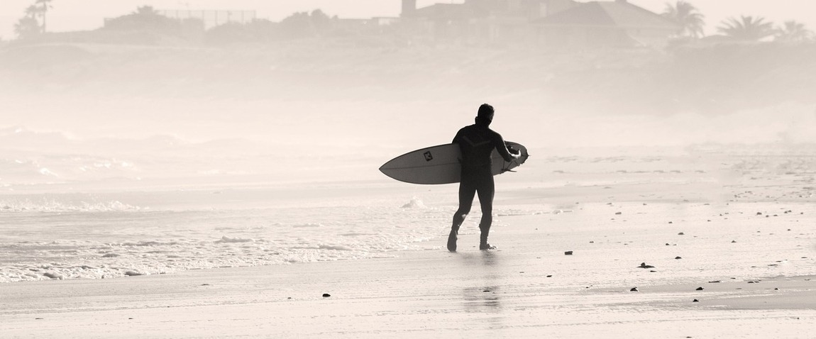 man with surf board