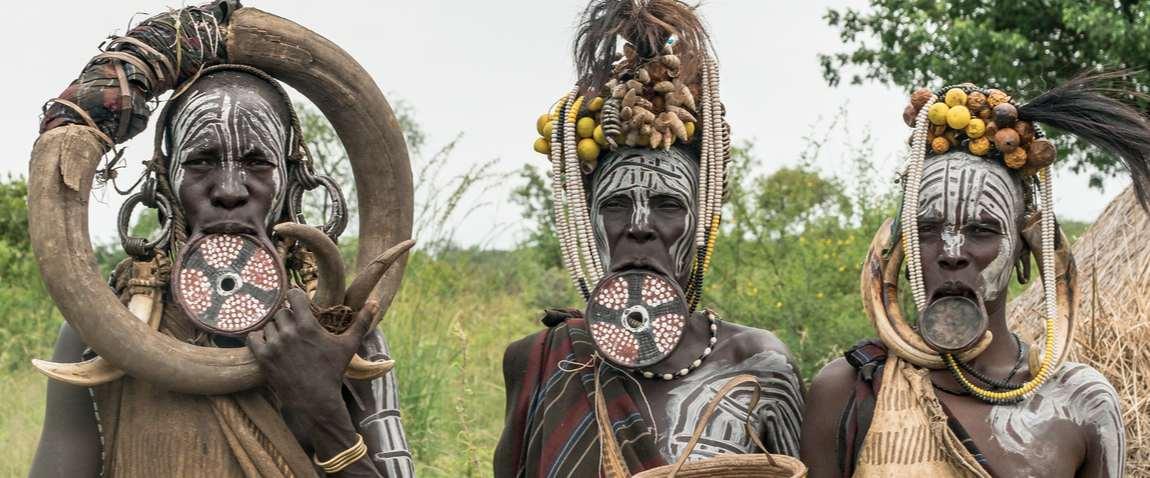 surma tribe people