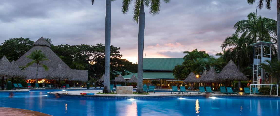 swimming pool at the barcelo tambor beach hotel
