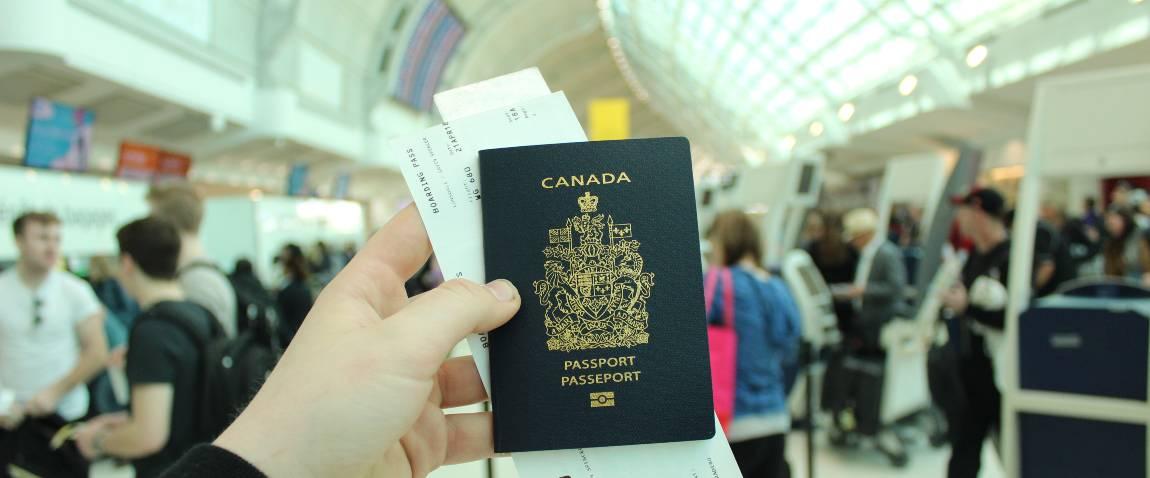 man showing passport