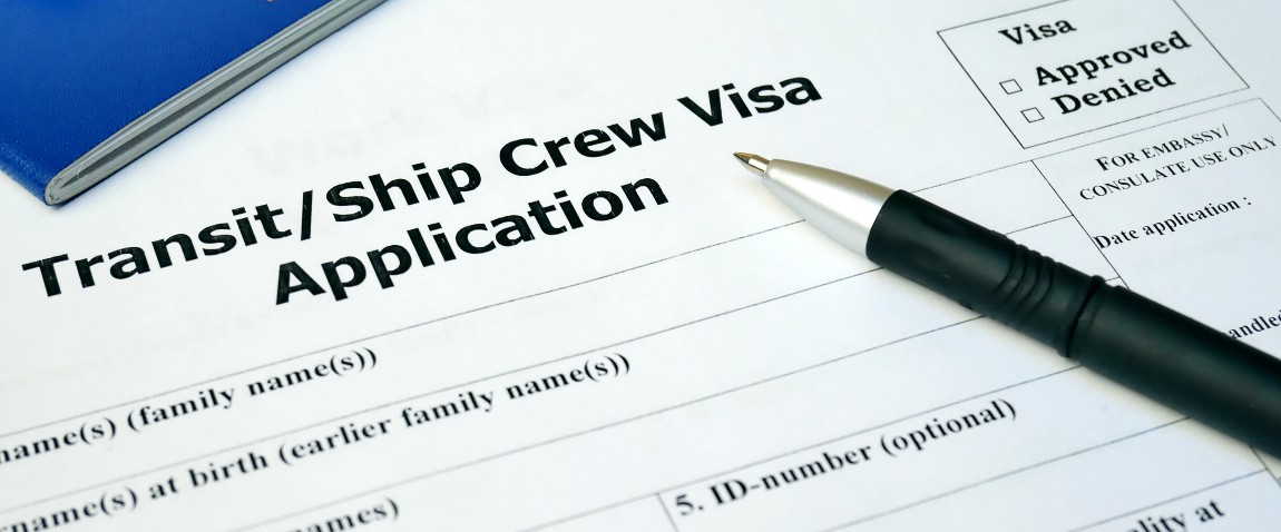 transit ship crew visa application form