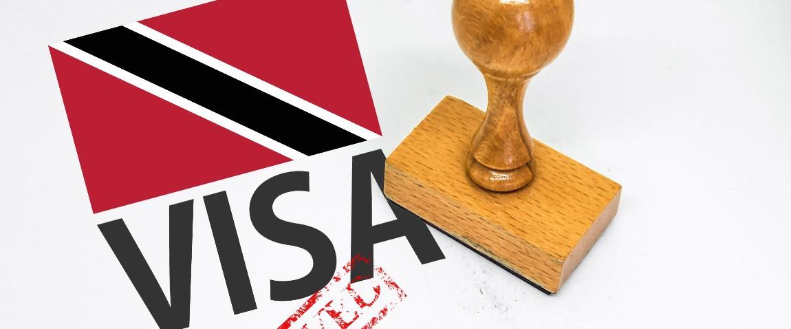 trinidad and tobago visa stamped
