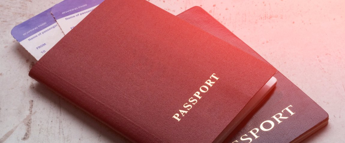blue and red passports