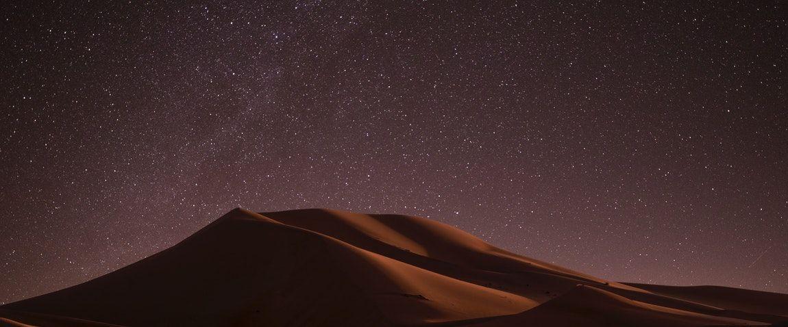 unique night view of kuwait