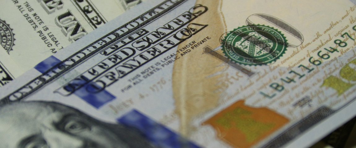 usd currency close up