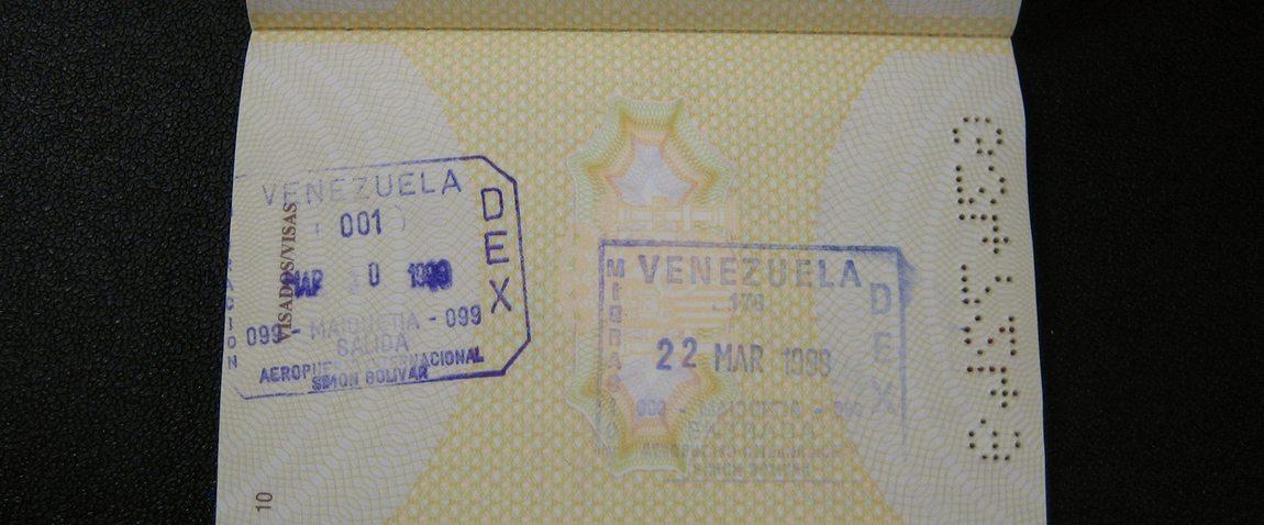 venezuela visa stamp
