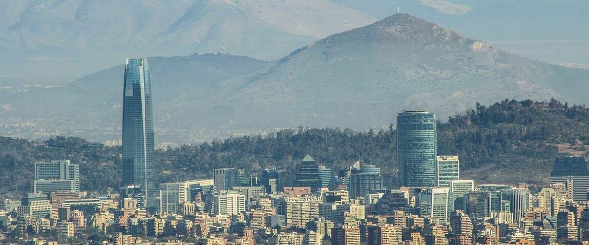 view of city in chile