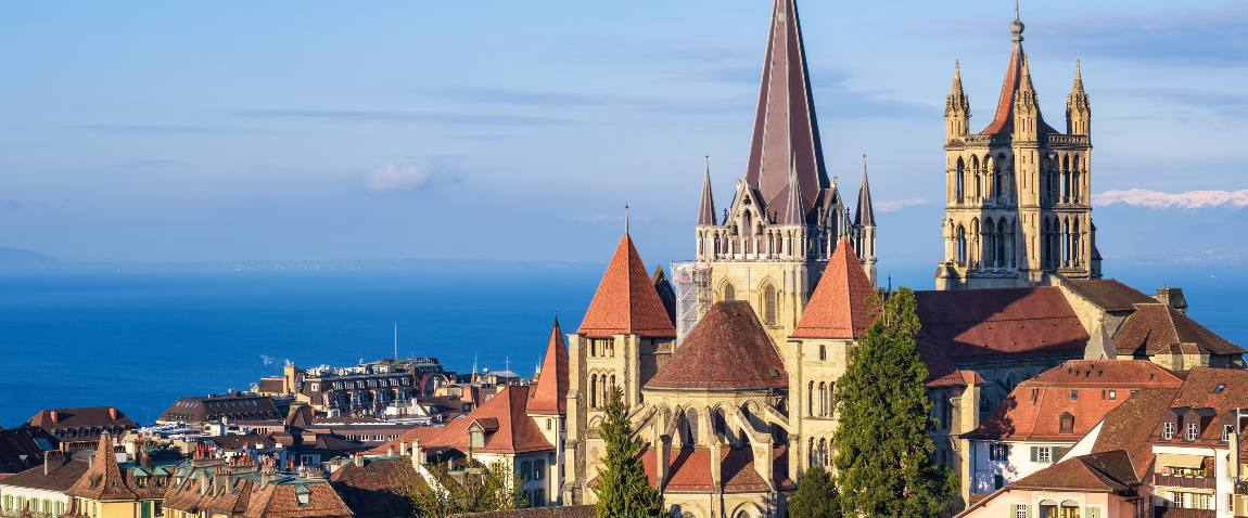 historical cathedral in lausanne